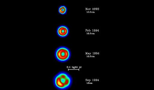 Five images of Supernova 1993J