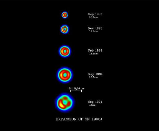 Five images of Supernova 1993J