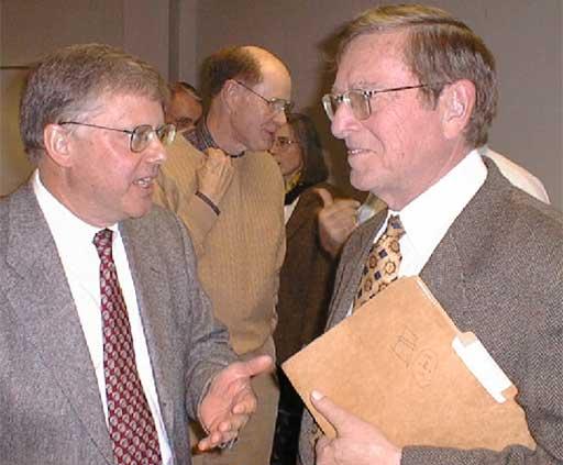 Paul Vanden Bout and U.S. Senator Pete Domenici