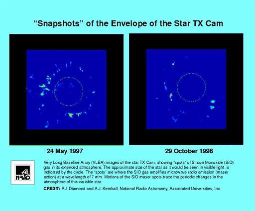 Gas around the star TX Cam