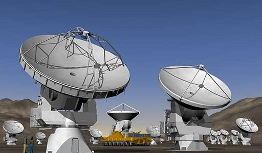 Artist's conception of ALMA antennas