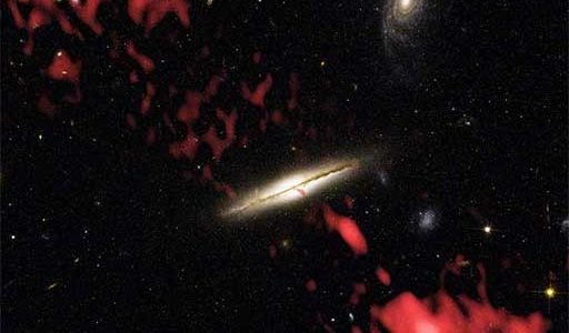 Combined HST and VLA image of the galaxy 0313-192