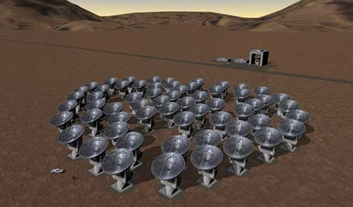 Artist's Conception of ALMA Array in Compact Configuration.