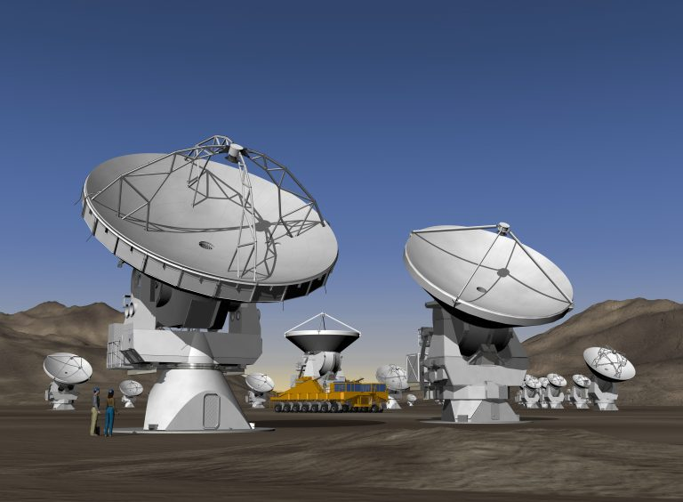 Artist's conception of completed ALMA.