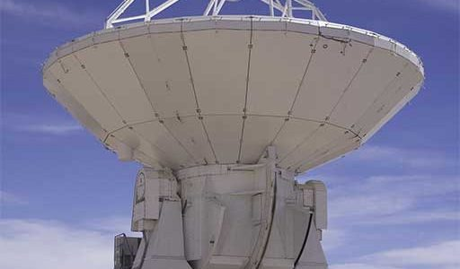 ALMA Observatory Equipped with its First Antenna