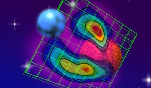 Giant Magnetic Loop Sweeps Between Stellar Pair