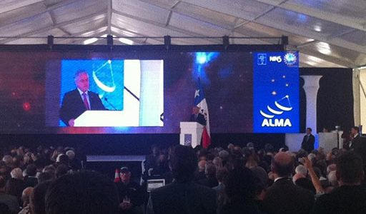 Chilean President Addresses ALMA Inauguration Ceremony.