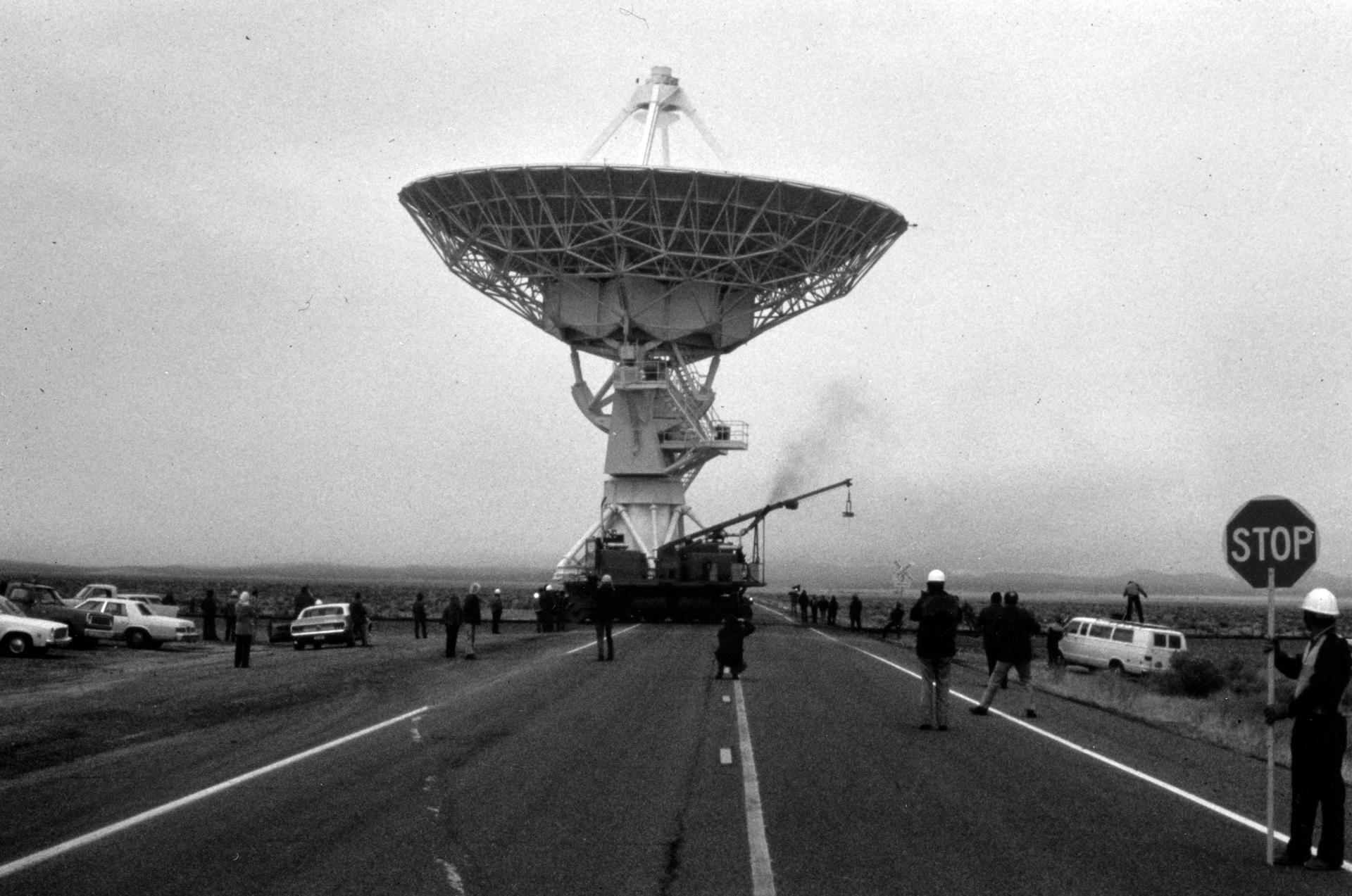 First VLA Antenna Move Across Highway 60