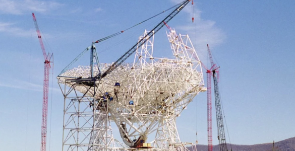 Timelapse: Construction of the Robert C. Byrd Green Bank Telescope