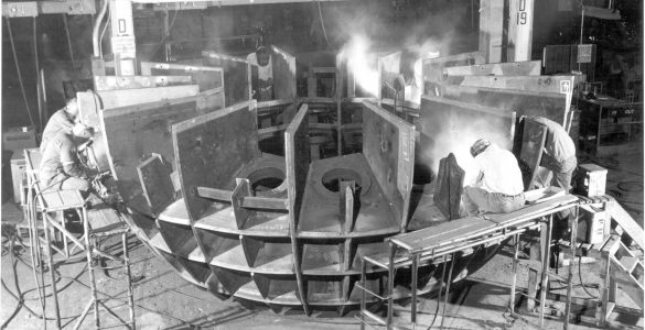 Original structure for the 140-foot telescope's ball bearing