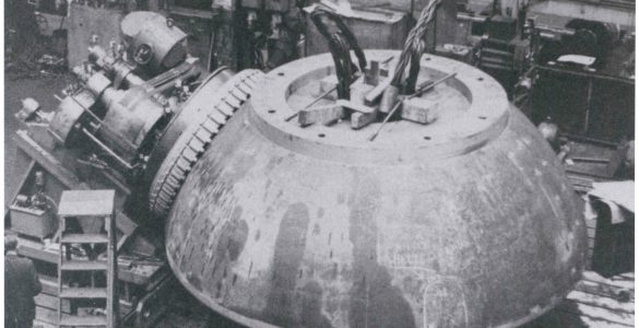 The ball bearing for the 140-foot telescope