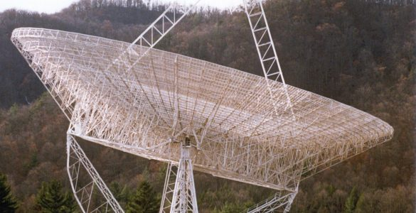 The last photograph of the 300-foot telescope intact