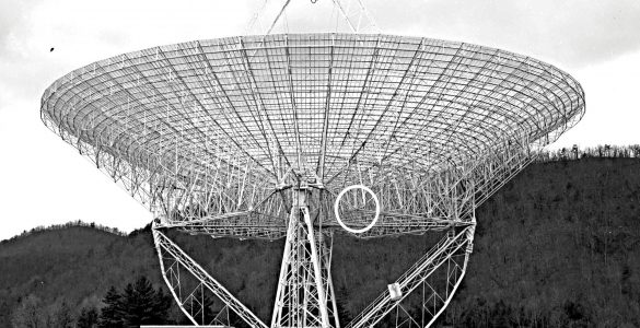 300-foot telescope and location of failed gusset plate
