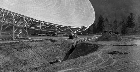 Creating space for the 300-foot telescope to move