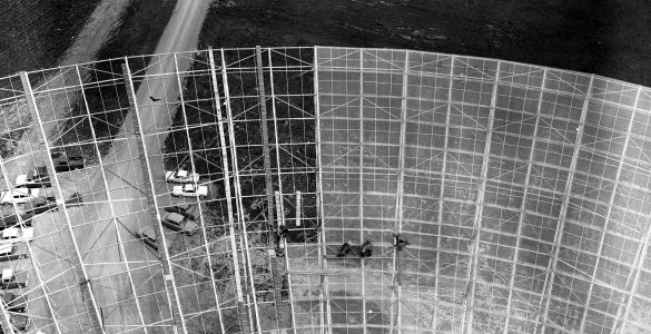 Attaching the Surface to the 300-foot telescope