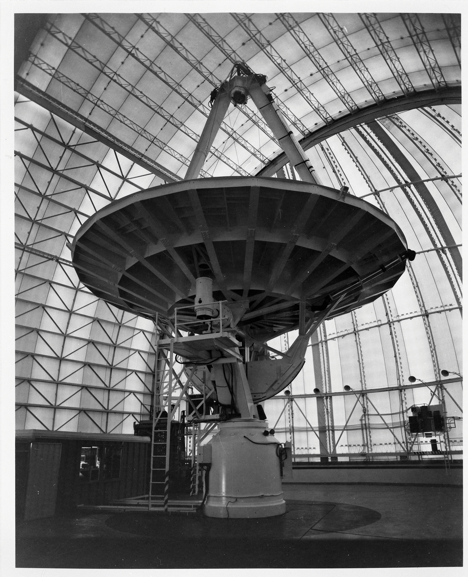 The 36-foot (12m) telescope under cover