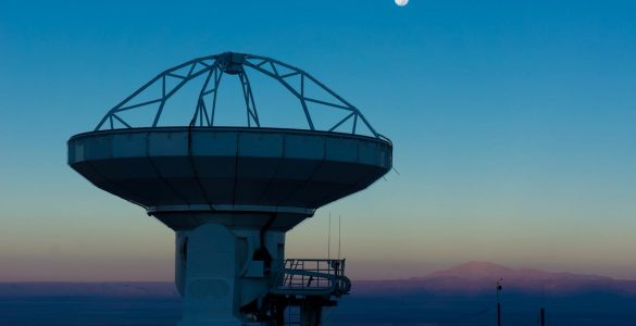 ALMA antenna and full Moon