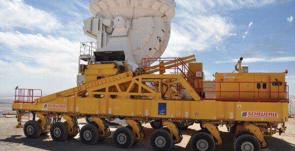 Transporting 7-meter antennas around ALMA