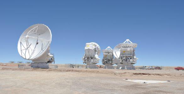 Triplet of 7-meter Antennas