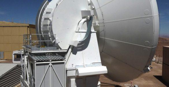 Close-up of a European ALMA Antenna