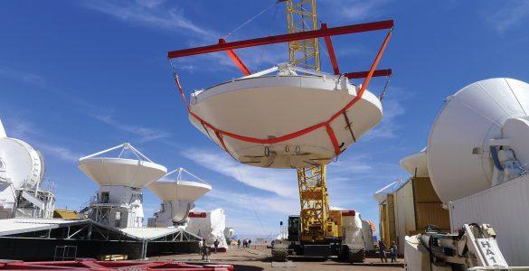 Carrying an ALMA antenna dish