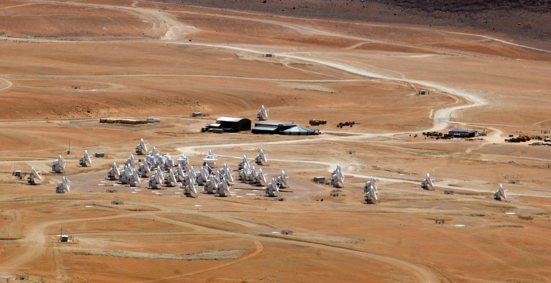 55 antennas on Chajnantor plains