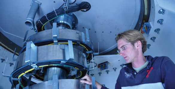 Inside an ALMA Antenna Base