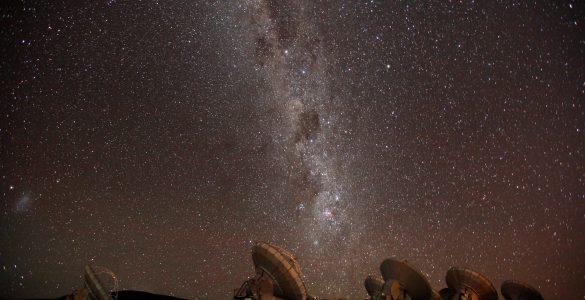 ALMA antennas and the Milky Way