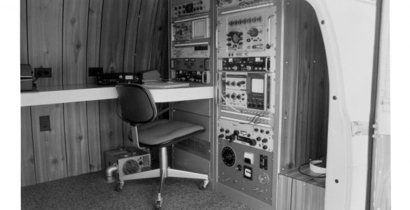 Interior of van used in Green Bank to locate RFI signals