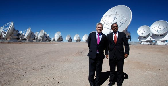 Chilean President at ALMA