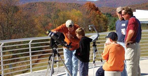 Solar telescope at Green Bank Science Center
