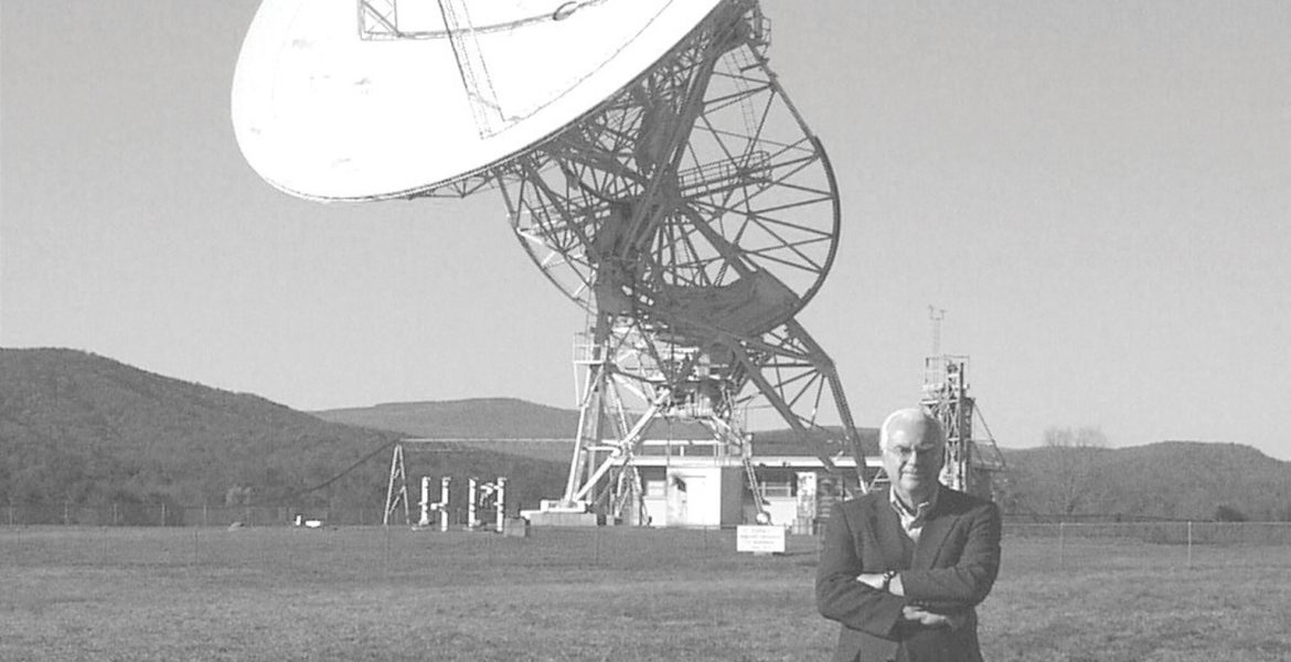 Father of SETI with SETI's First Telescope