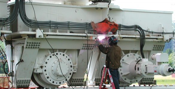 Welding on the GBT Azimuth Trucks