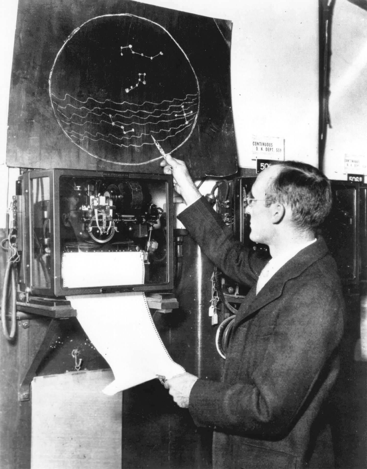 Karl Jansky and his map of the Milky Way