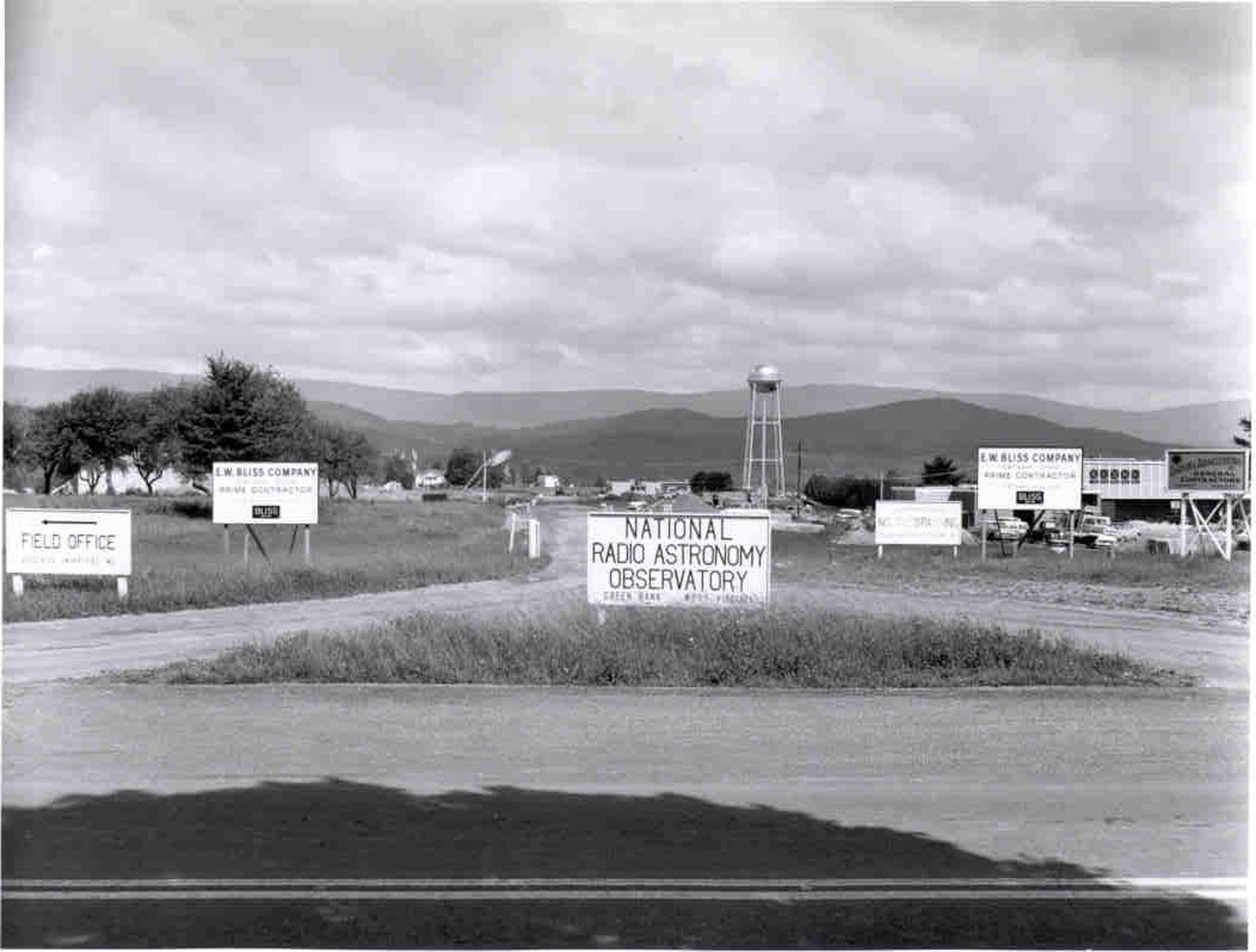 Entrance to Green Bank site in early 1960s