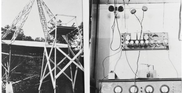 Grote Reber's telescope and control box for his receiver