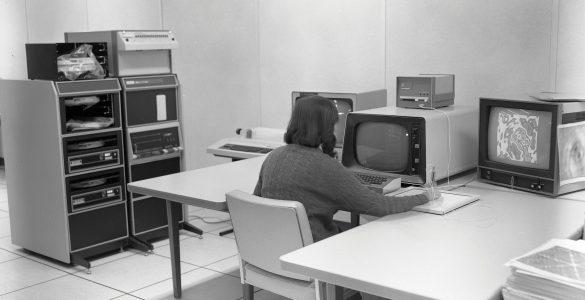 Jim Torson in old VLA computer room