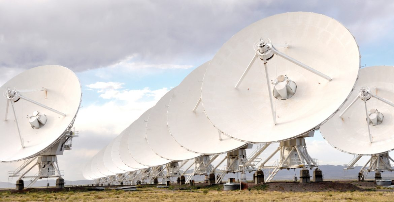Lining up the VLA antennas