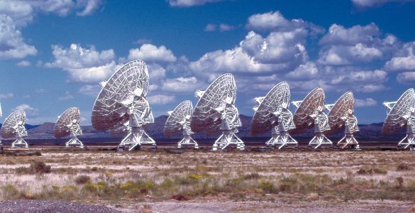 The VLA Array looking away