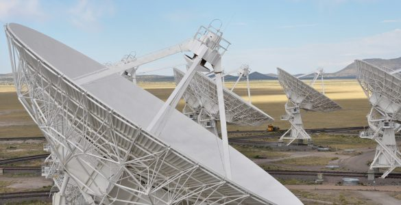 Close up of VLA antenna dish