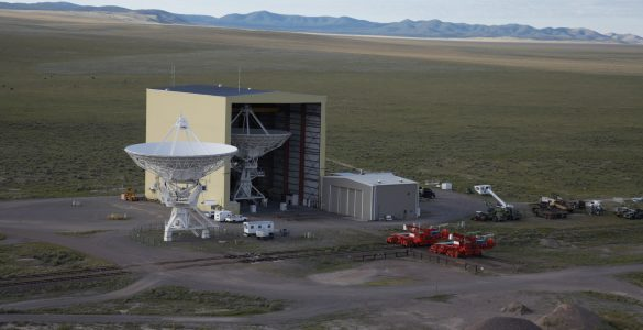 VLA antenna and The Barn