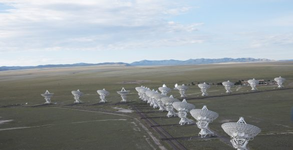 Aerial shot of the VLA