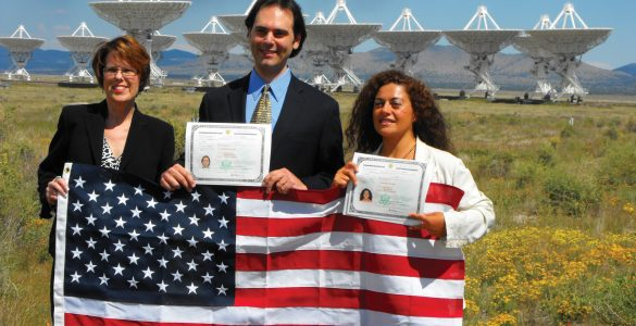 Becoming US Citizens at the VLA