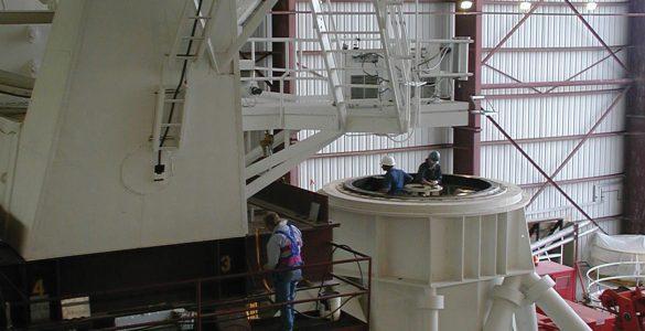 Inside an azimuth bearing of a VLA telescope