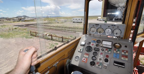 View from inside a VLA Transporter