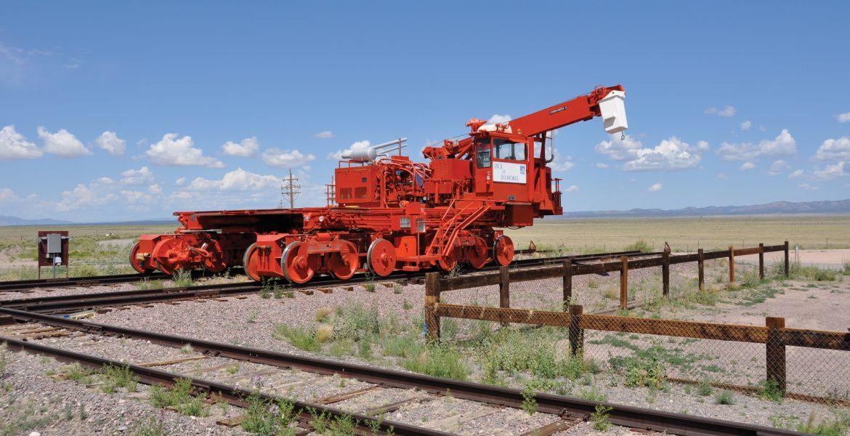 A VLA Transporter stopped on the tracks