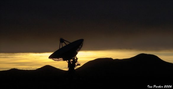 Pie Town VLBA station at sunset