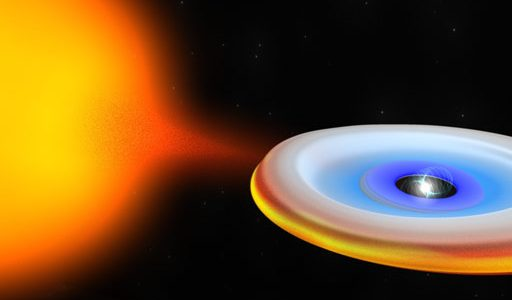 Neutron star and its companion during a period of accretion when the neutron star emits powerful X-rays.