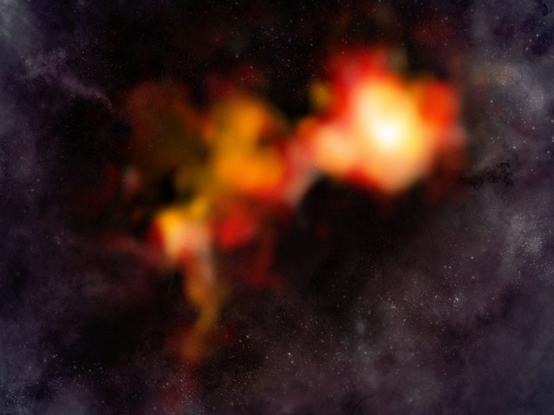 N2D+ ALMA data on artist's impression background
