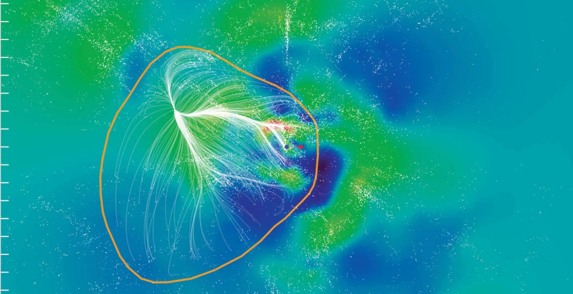 Slice of the Laniakea Supercluster